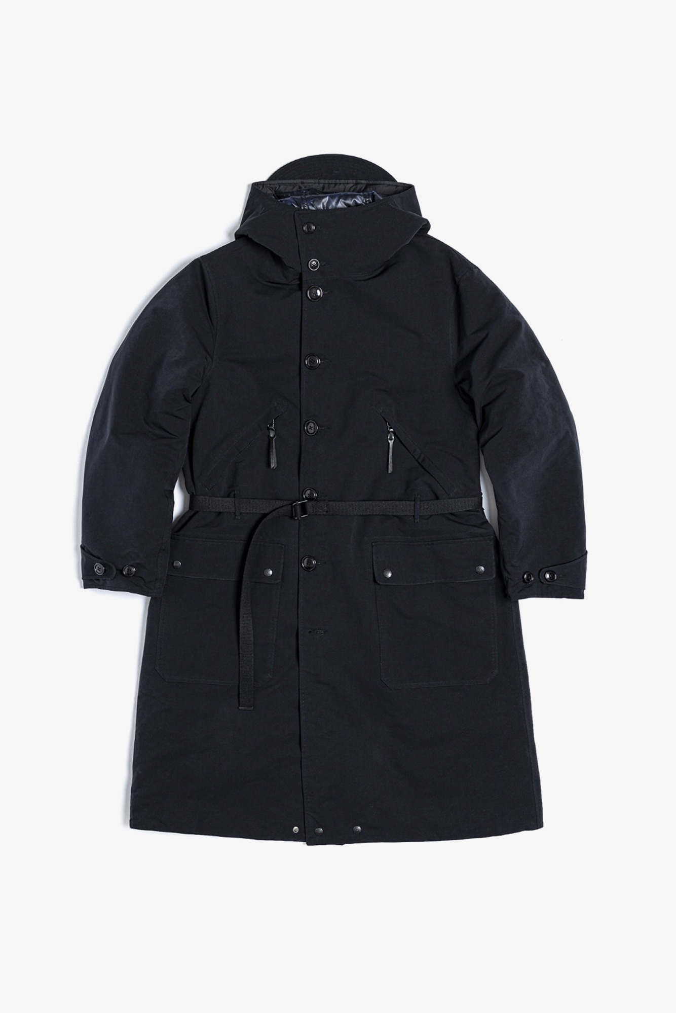 "EASTLOGUE Reversible Mountain Coat ""Black & Navy Check"""