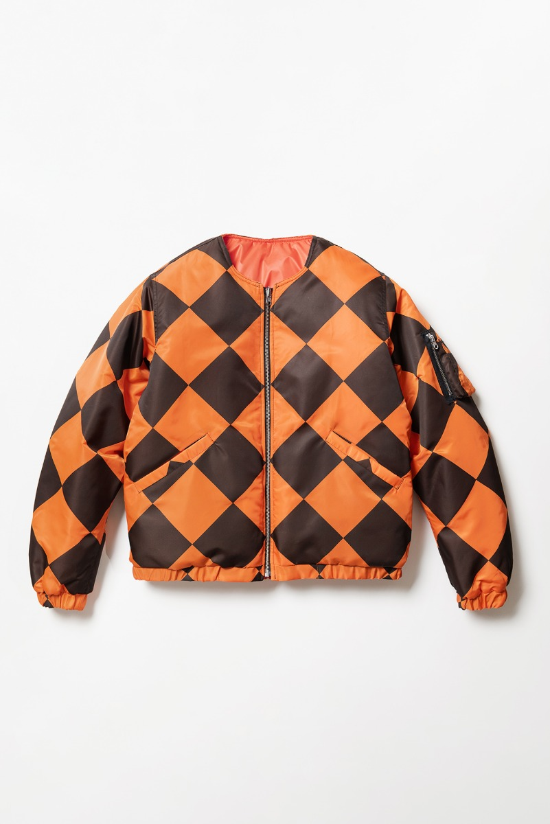 "LOCALS ONLY G-1 Line Crew Man Jacket ""Orange/Black"""