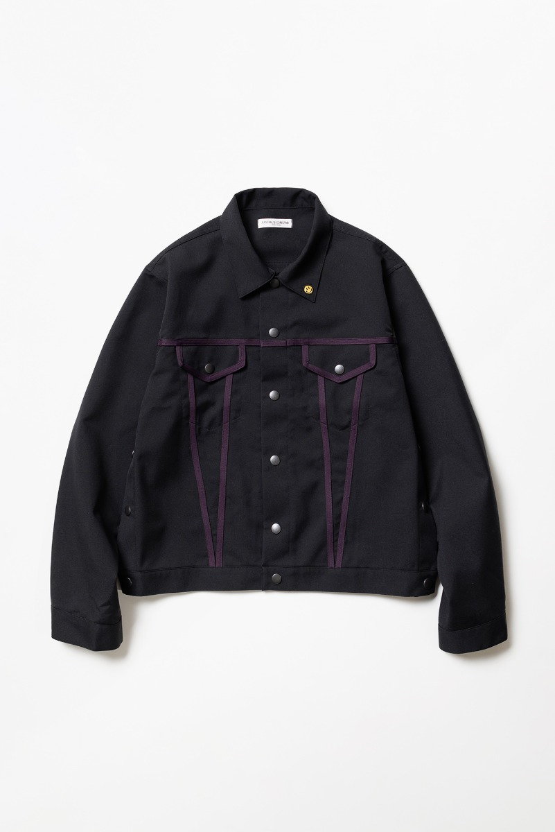 "LOCALS ONLY Side Line Trucker Jacket ""Black/Purple"""