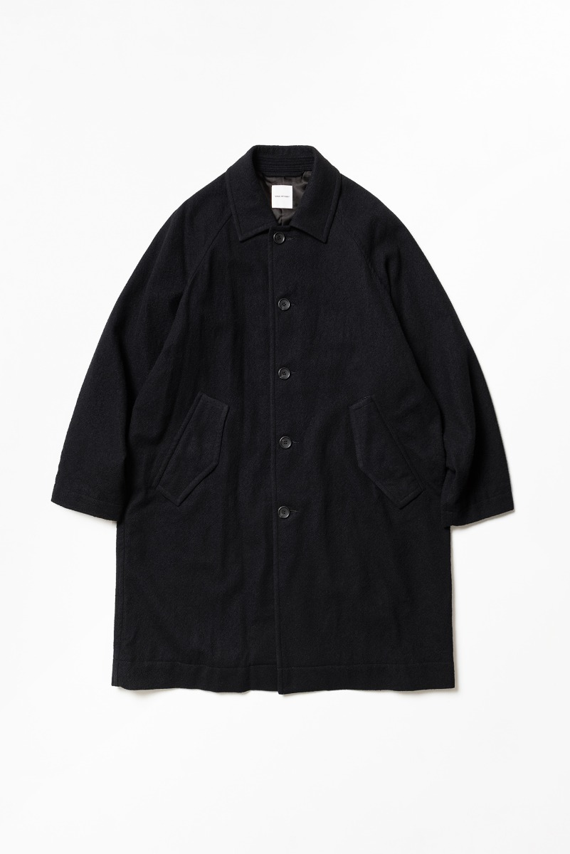 "SAGE DE CRET 20FW Convertible Collar Coat ""Black"""