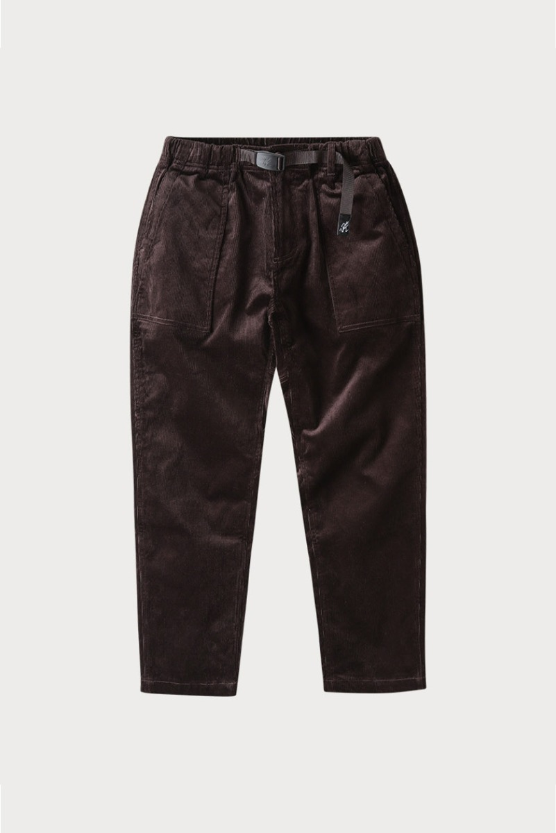 "GRAMICCI Corduroy Loose Tapered Pants ""Dark Brown"""