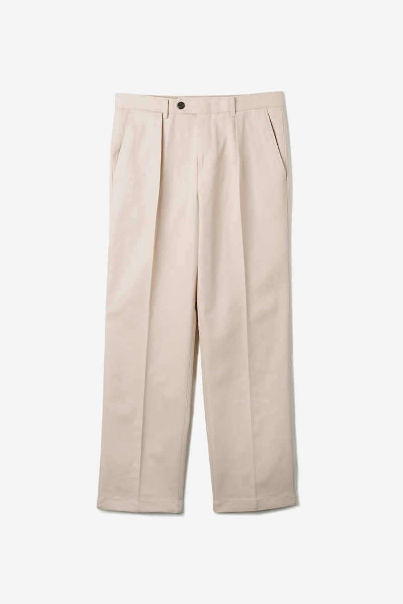 "OPD Cotton One-Tuck Pants ""Ivory"""