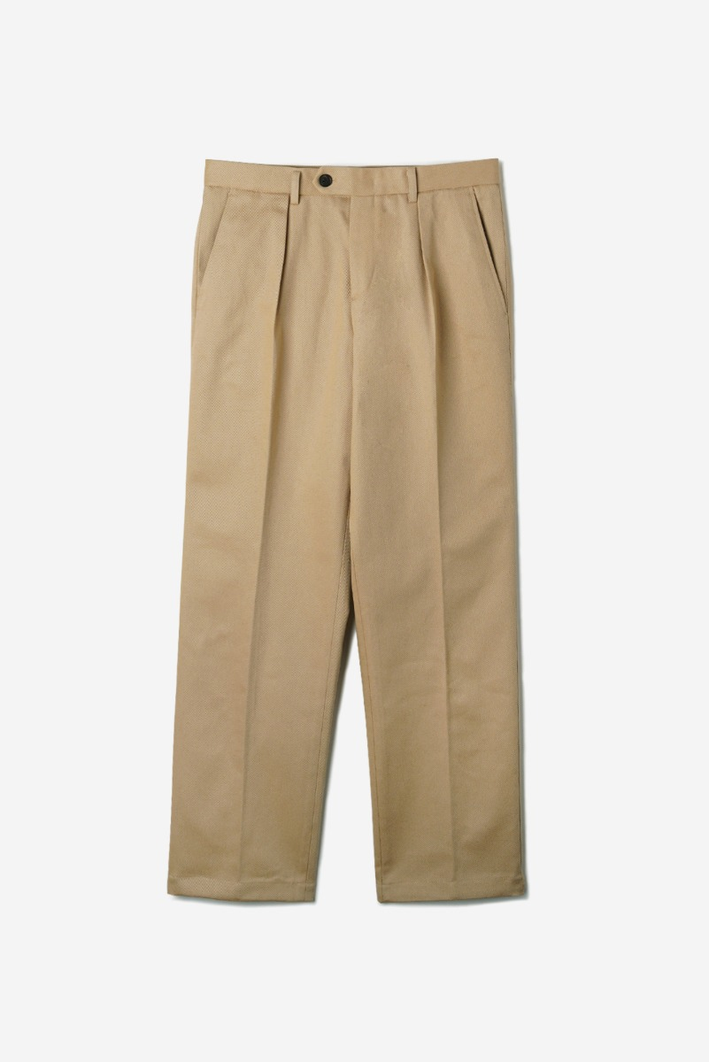 "OPD Cotton One-Tuck Pants ""Beige"""