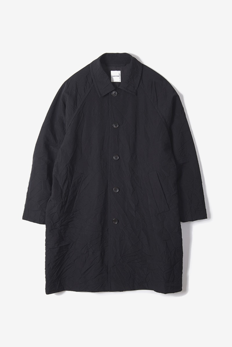 "SAGE DE CRET 20SS Convertible Collar Coat ""Black"""