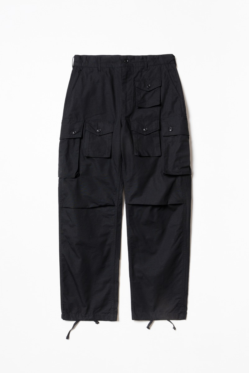"ENGINEERED GARMENTS FA Pant ""Black Cotton Ripstop"""