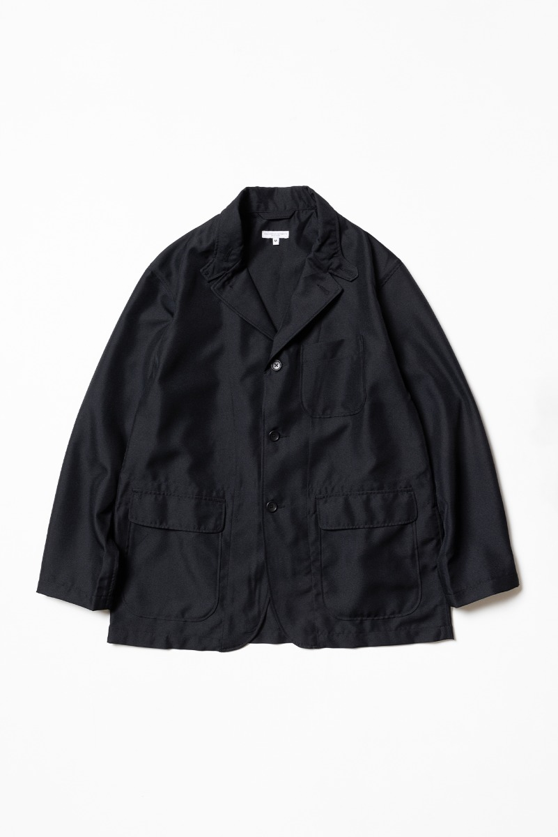 "ENGINEERED GARMENTS Loiter Jacket ""Black Polyester Twill"""