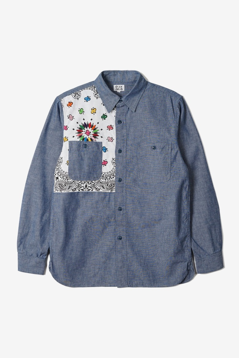 "OAXACA Chambray Bandana Shirt ""Blue/White Bandana"""