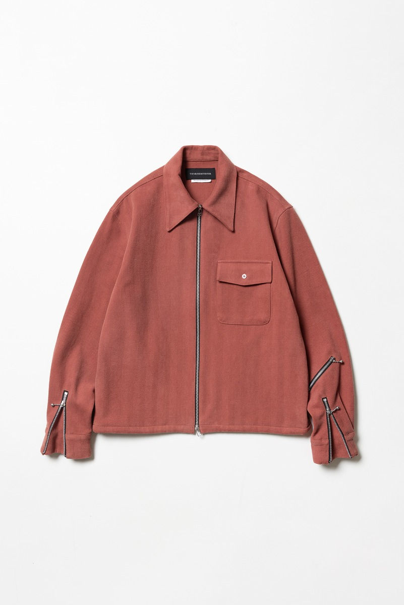 "THE MUSEUM VISITOR Zipper Shirts Jacket ""Orange"""