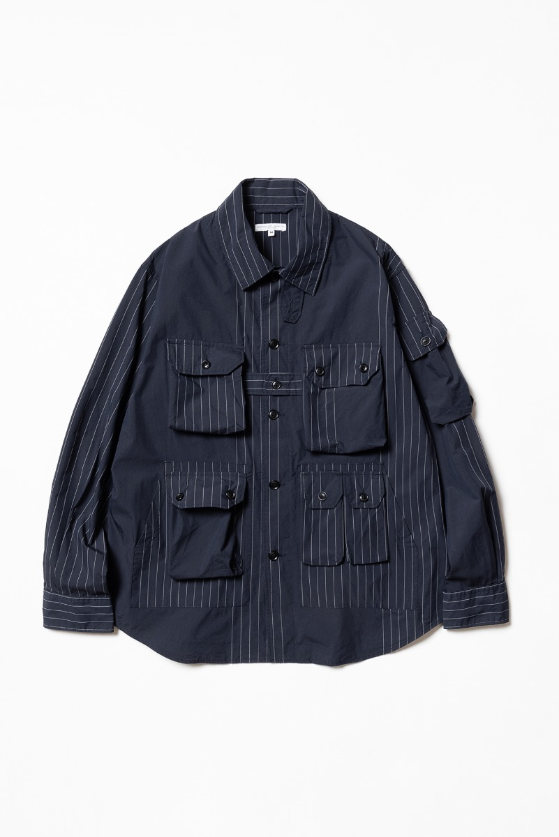 "ENGINEERED GARMENTS Explorer Shirt Jacket ""Dark Navy Nyco Gangster"""