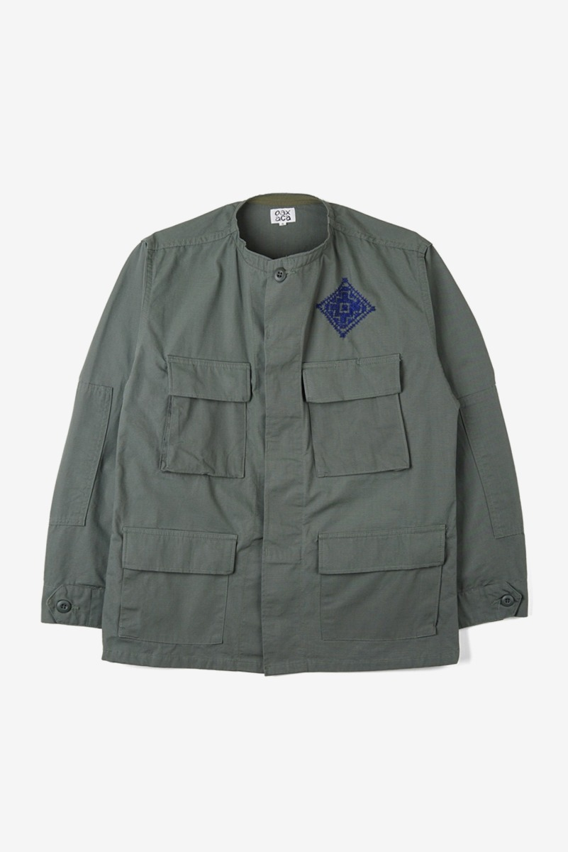 "OAXACA Cross Stitch Jacket ""Olive Green"""