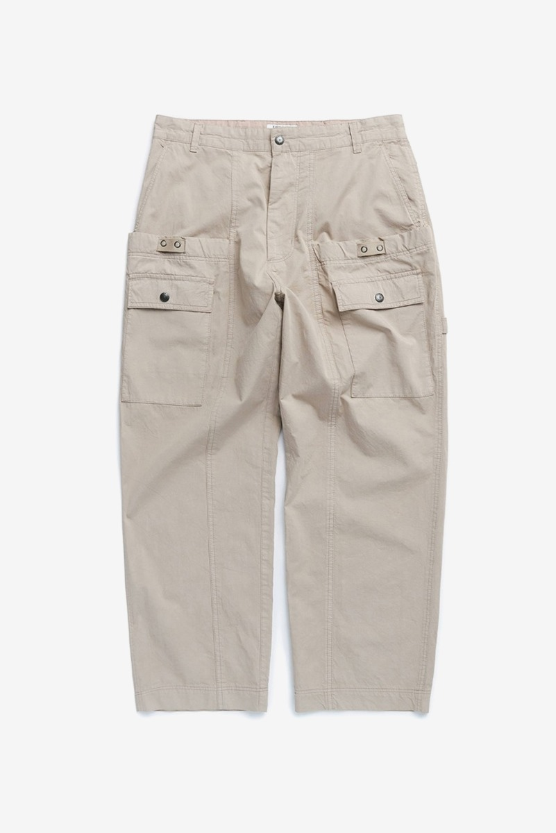"EASTLOGUE Wagon Pants ""Dyed Beige"""