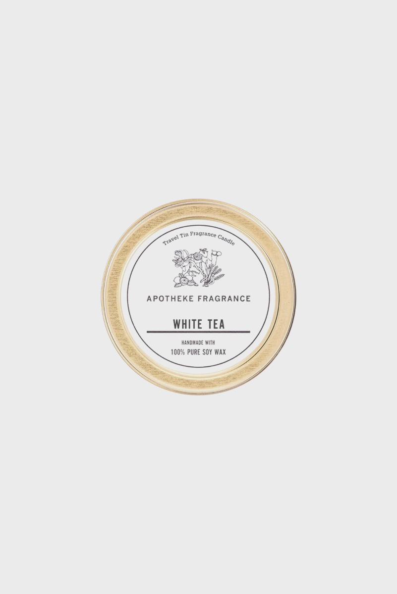 "APOTHEKE FRAGRANCE Tin Candle ""White Tea"""