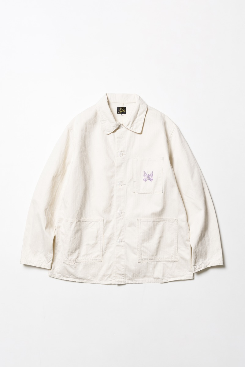 "Needles D.N. Coverall Jacket Cotton Herringbone ""Off White"""