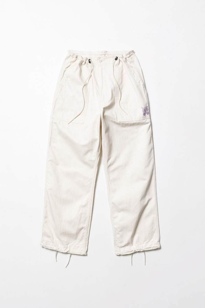 "Needles D.N. Coverall Pant Cotton Herringbone ""Off White"""