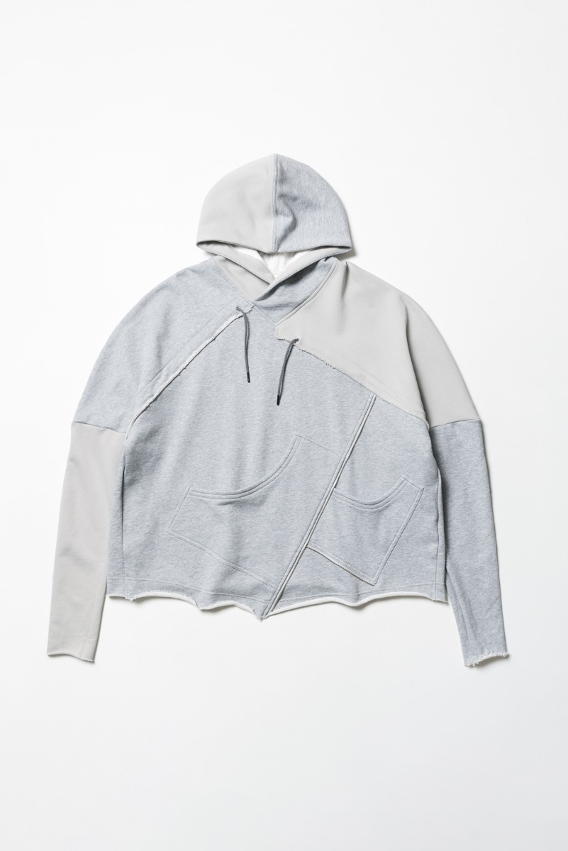"A.A SPECTRUM  Collage Hoodie ""Gray Melange & Gravity Gray"""