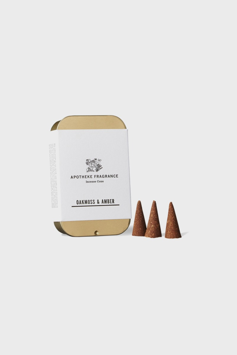 "APOTHEKE FRAGRANCE Incense Cone ""Oakmoss & Amber"""
