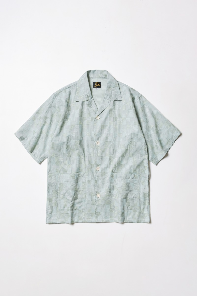 "Needles Cabana Shirt Circle Emb ""Mint"""