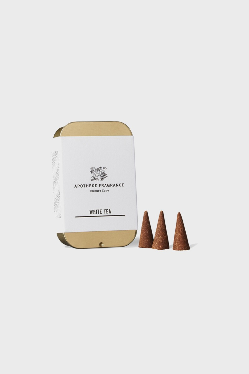 "APOTHEKE FRAGRANCE Incense Cone ""White Tea"""