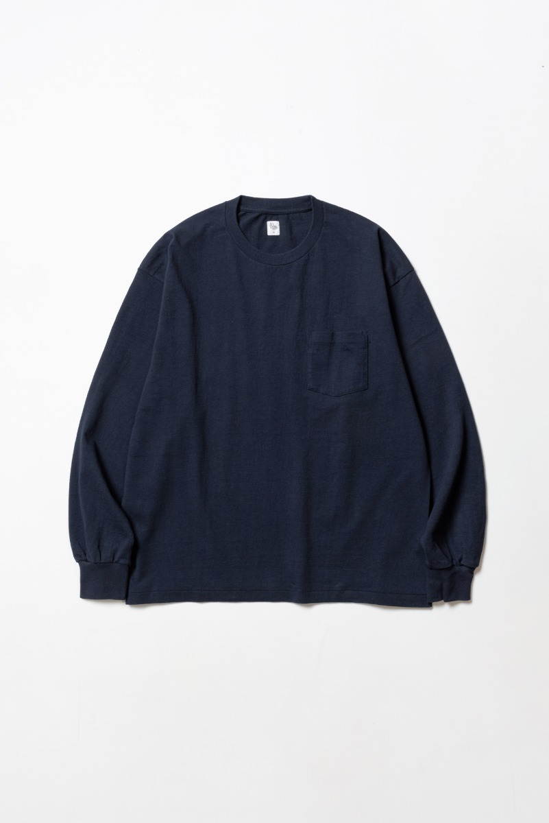 "KAPTAIN SUNSHINE West Coast L/S Tee ""Navy x Navy Line"""