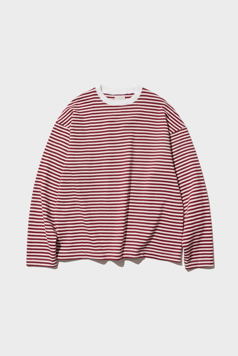 "Nocle Relax Stripe Tee ""Wine"""