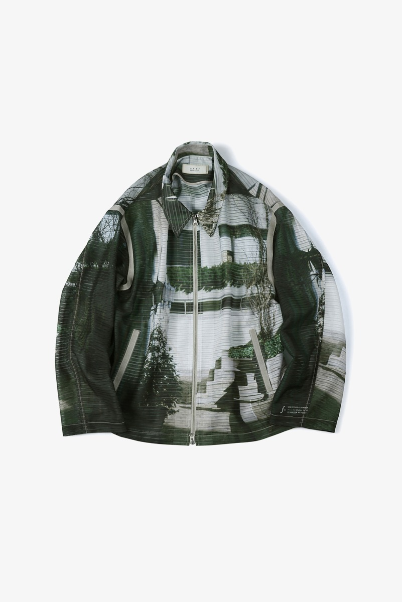 "SHIRTER Printed Zip Jacket ""Green"""