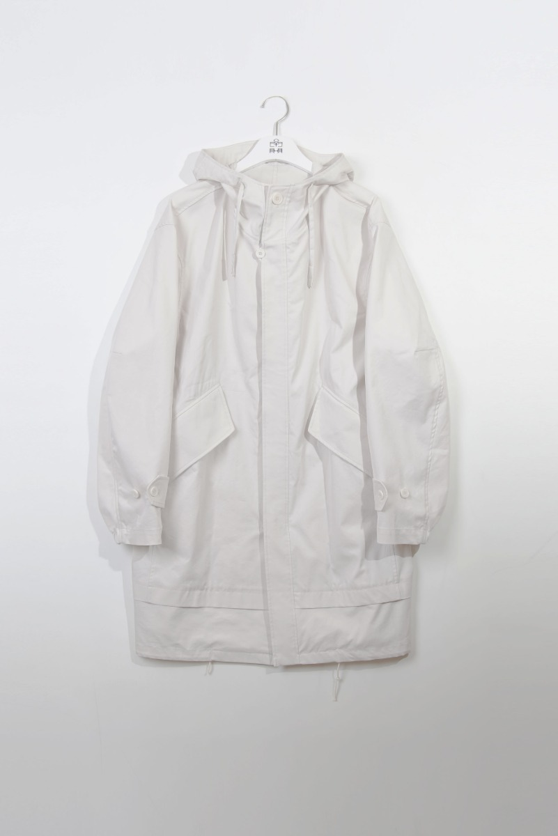 "POLYTERU Layered Fishtail Parka ""Light Beige"""
