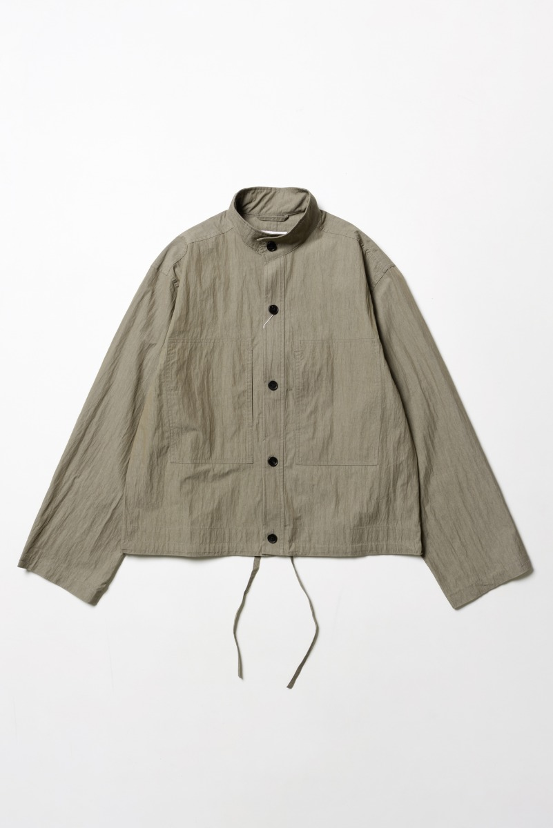 "ART IF ACTS Two Pocket Stand Collar Shirts ""Khaki"""