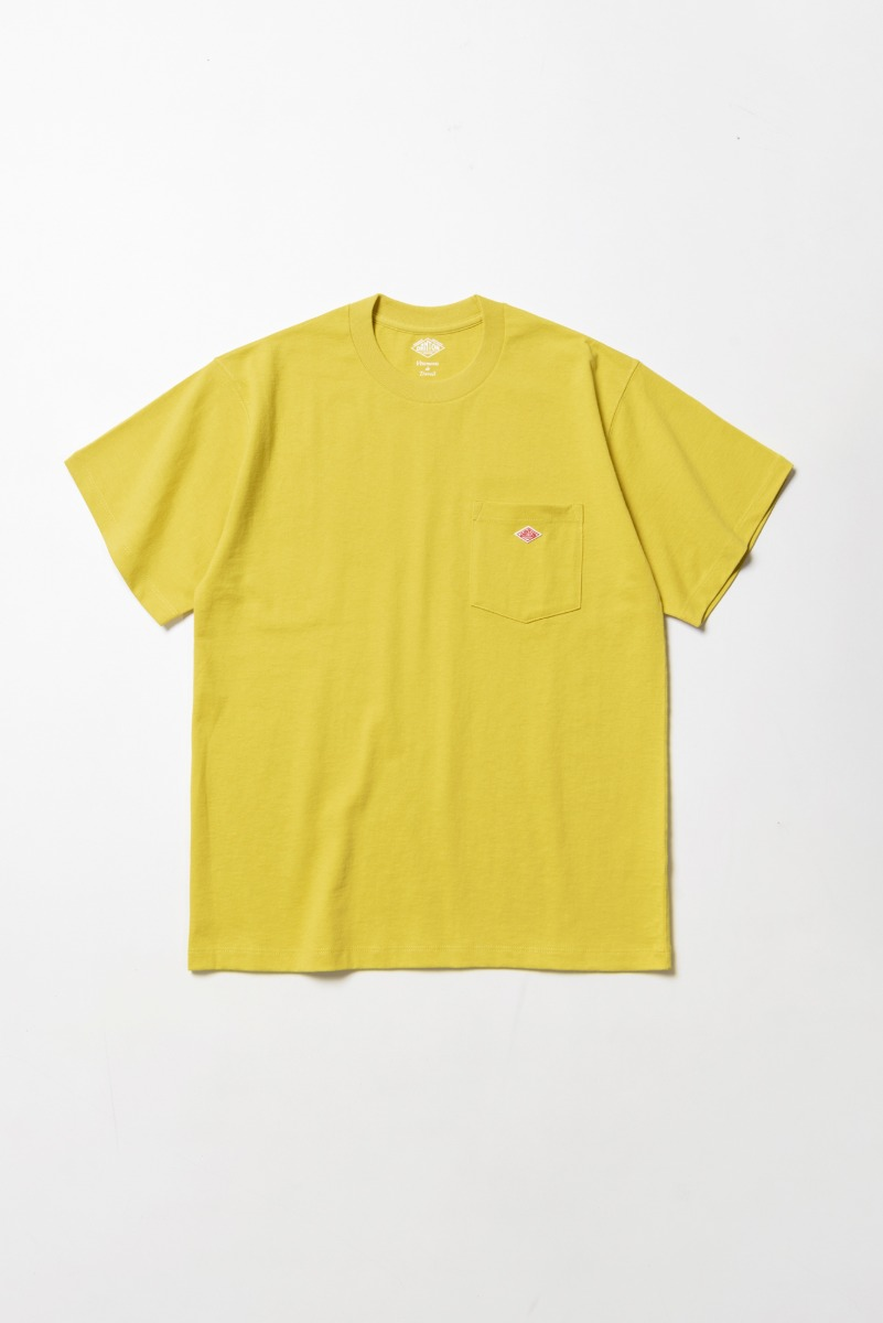 "DANTON Pocket T-Shirt S/S ""New Yellow"""