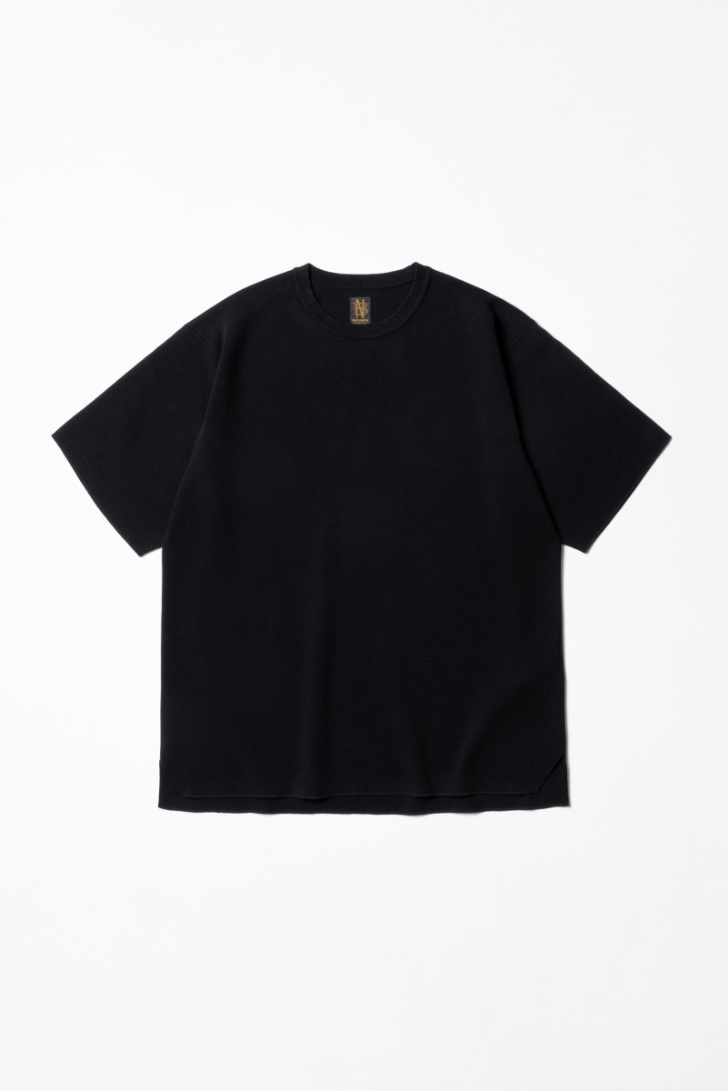 "BATONER 32G Smooth Knit T-Shirt ""Black"""