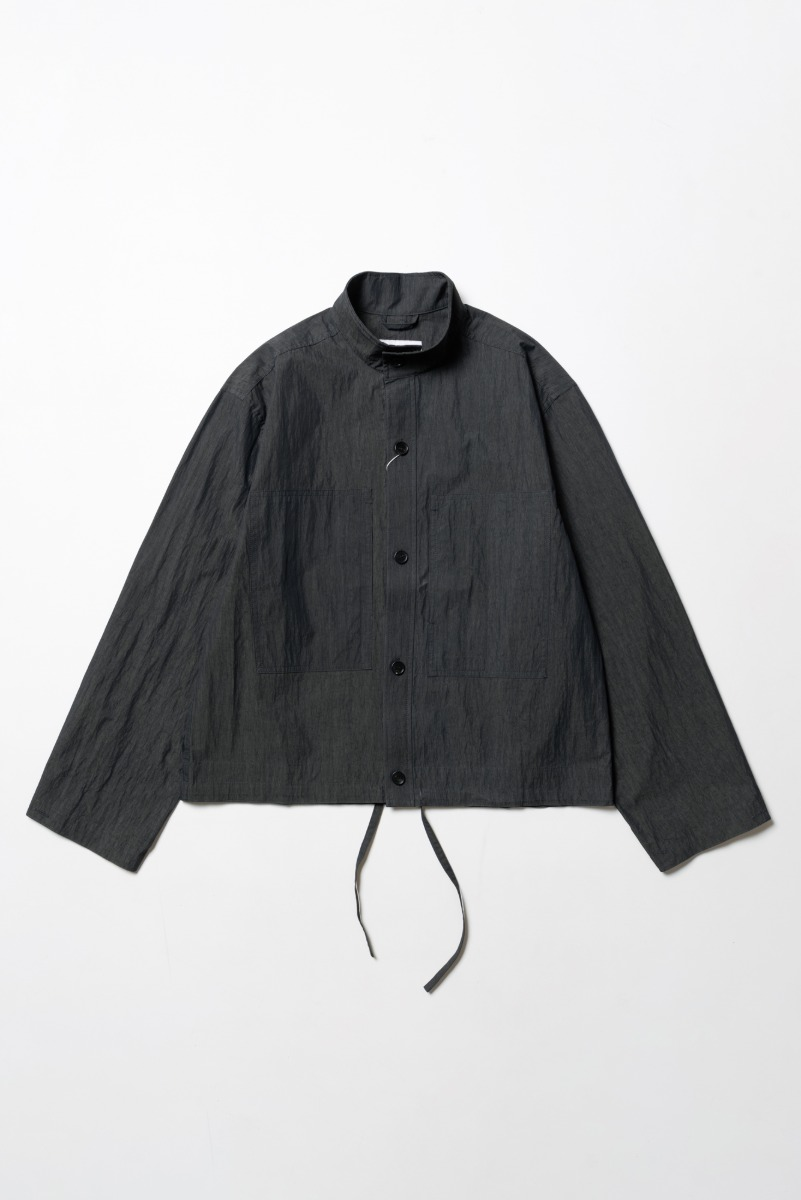 "ART IF ACTS Two Pocket Stand Collar Shirts ""Charcoal"""