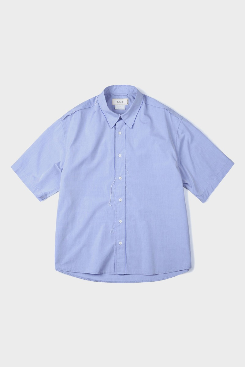 "SHIRTER Cut Off Half Shirt ""Blue"""