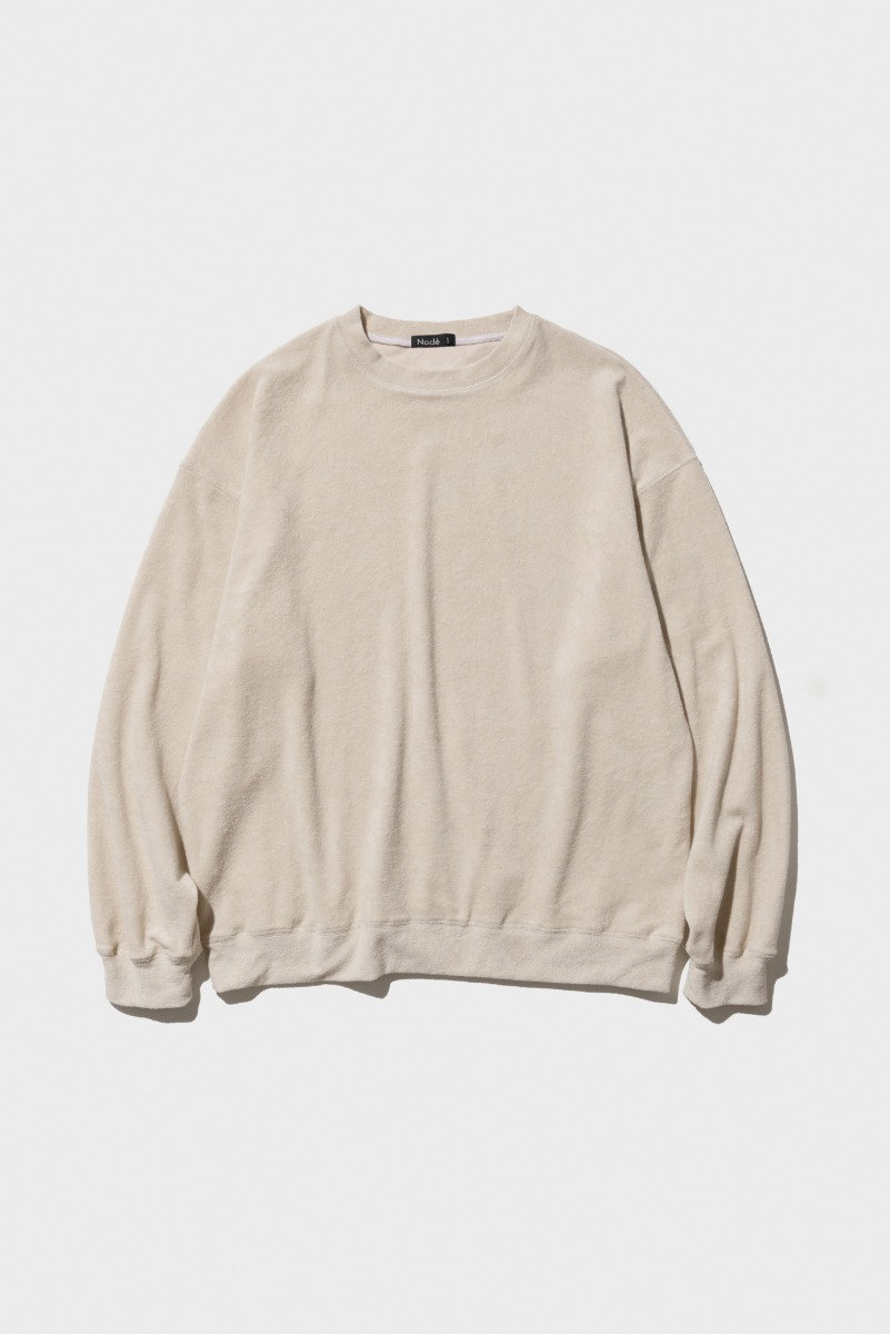 "Nocle Relax Terry Crew Sweat ""Ivory"""