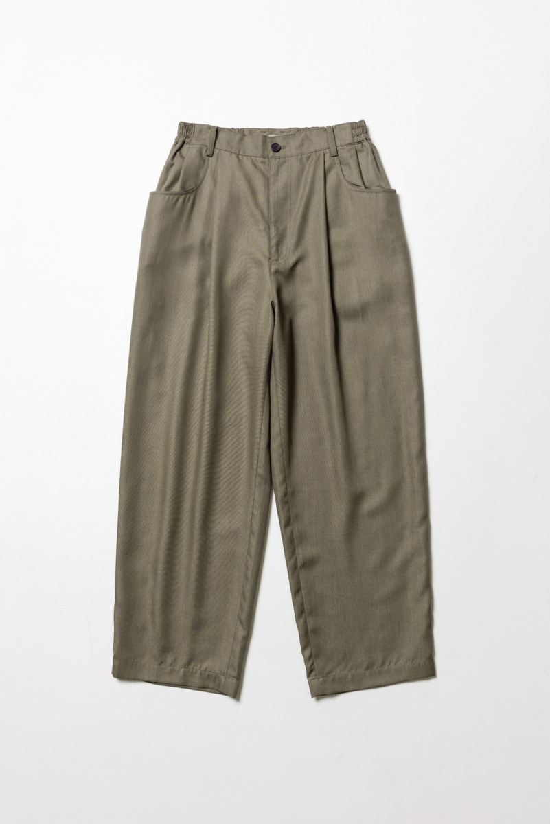 "ART IF ACTS Structured Wide Pants(Relaxed) ""Khaki Brown"""