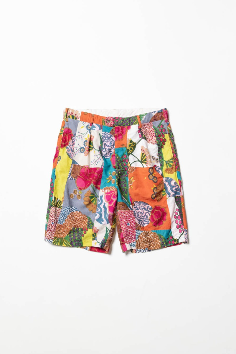"ENGINEERED GARMENTS Sunset Short ""Multi Color Cotton Floral Patchwork"""
