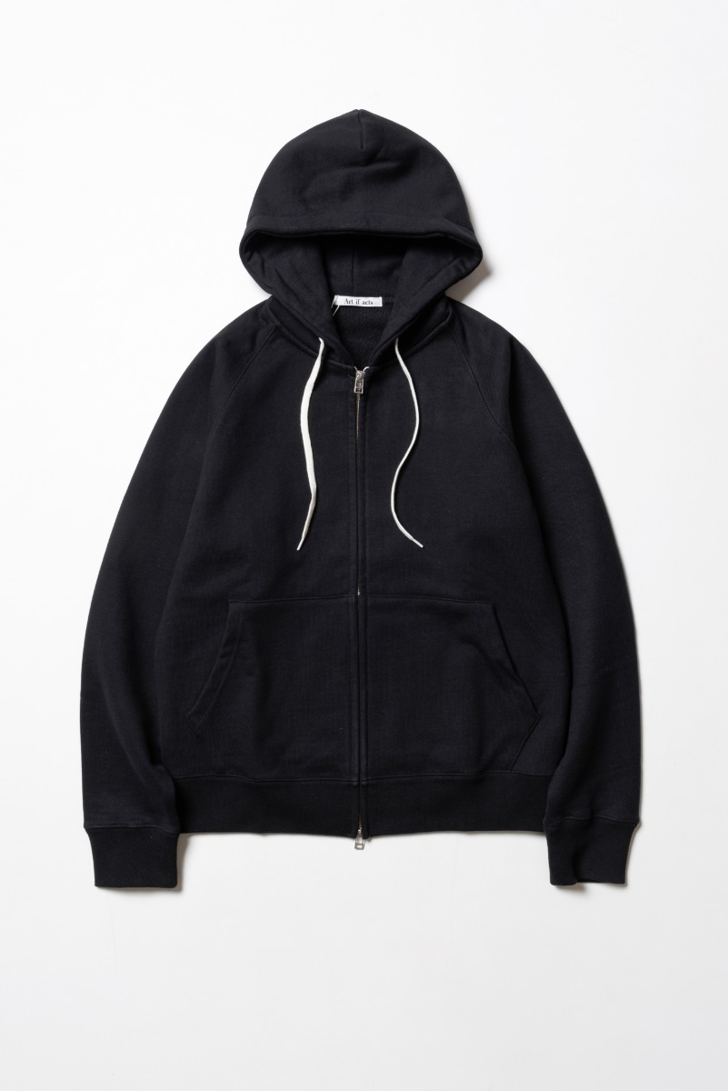 "ART IF ACTS Heavy Hooded Sweat Shirt(zipup) ""Black"""