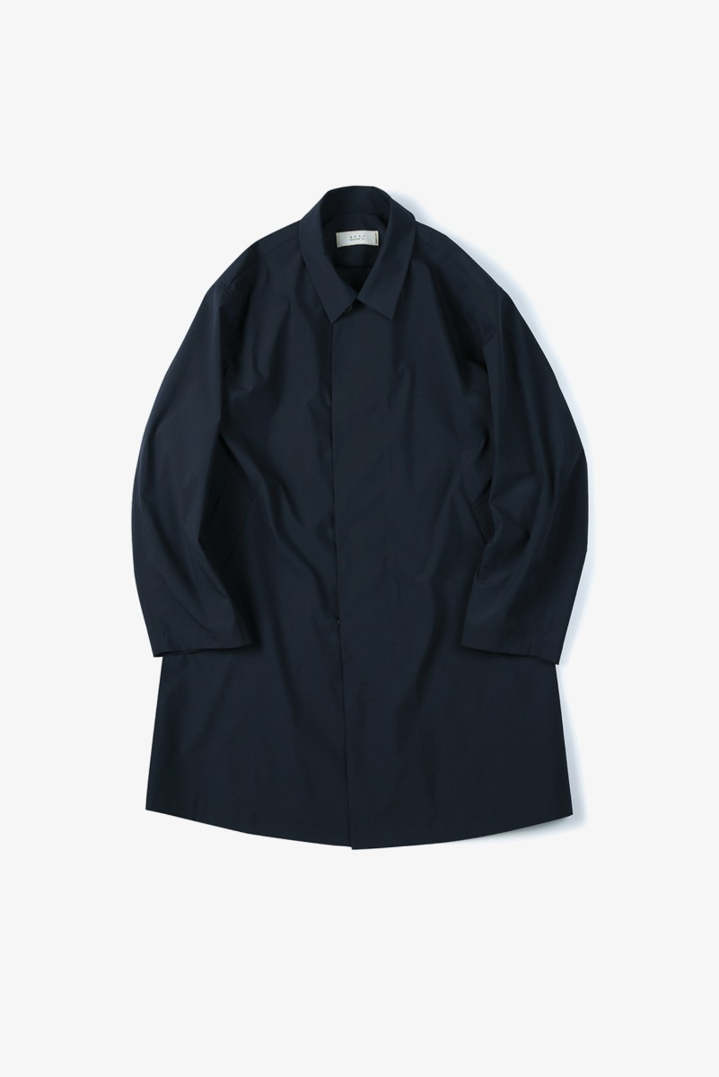 "SHIRTER Solotex Bal Collar Coat ""Navy"""