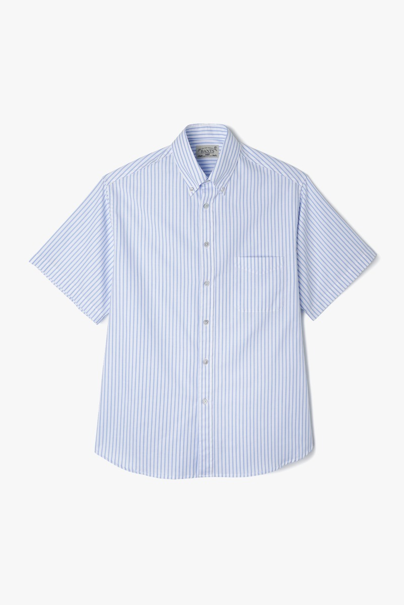 "BANTS VHS Stripe Oxford B.D Shirt Half ""Skyblue"""