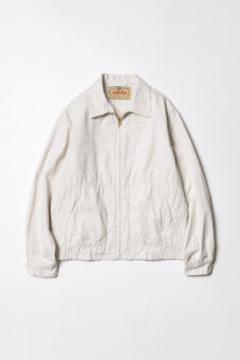 "SUGAR CANE Cotton Sport Jacket ""Off White"""