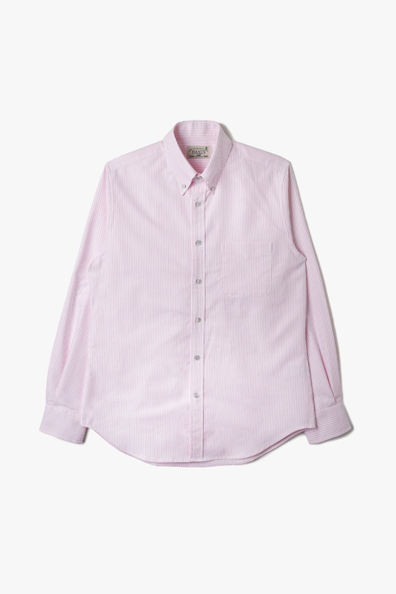 "BANTS VHS Stripe Oxford B.D Shirt ""Pink"""
