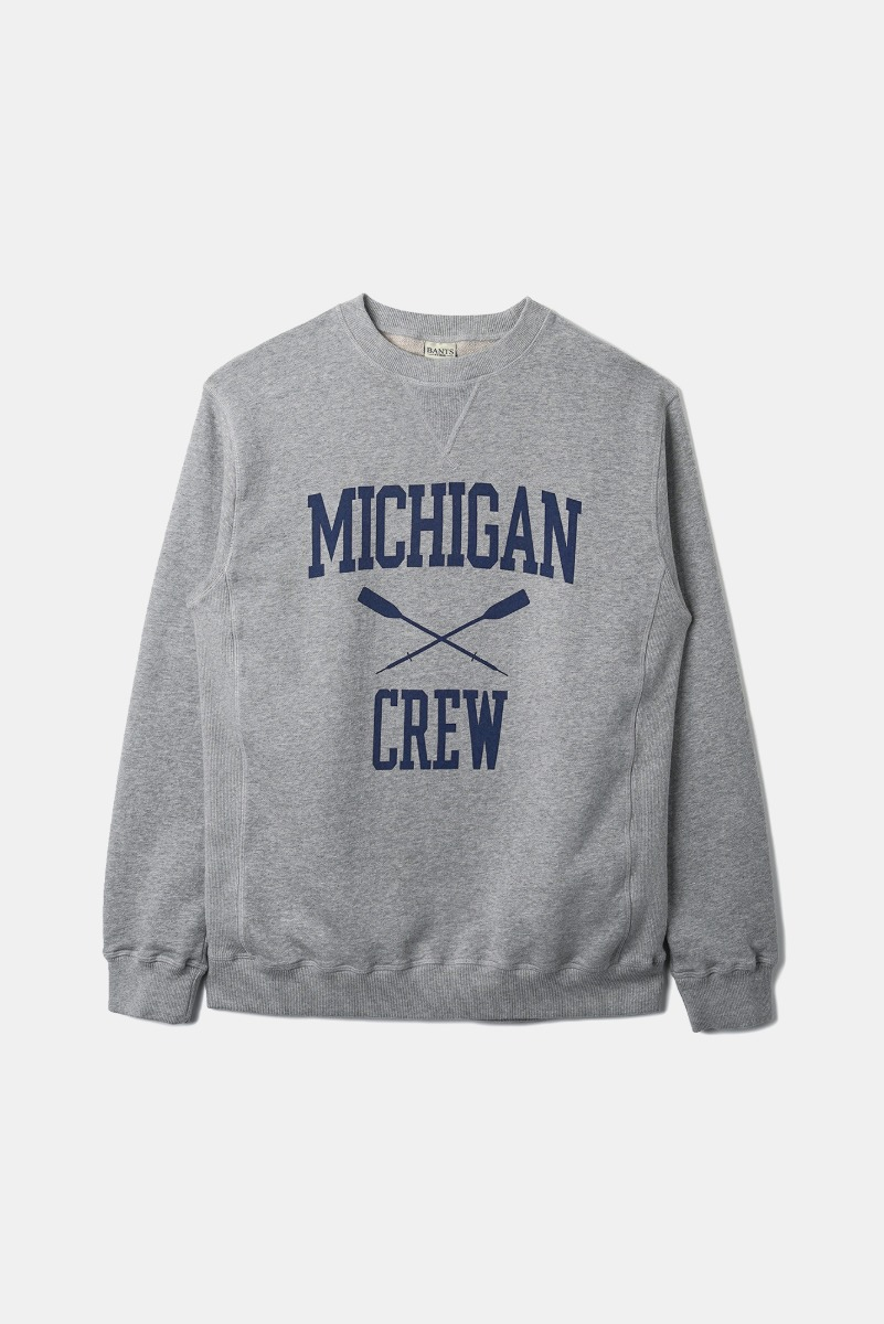 "BANTS OPD Cotton Crew Sweatshirt Michigan Crew ""Grey"""