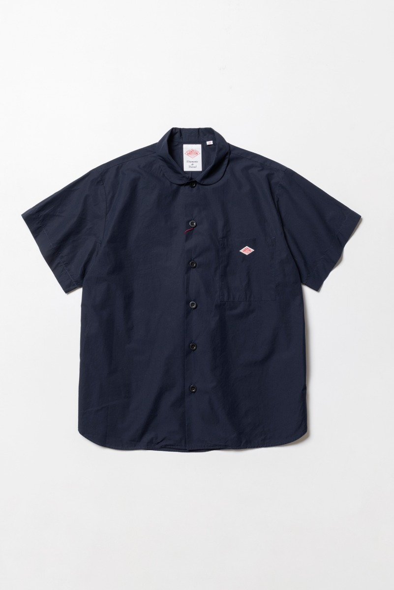 "DANTON Work Shirt S/S ""Navy"""