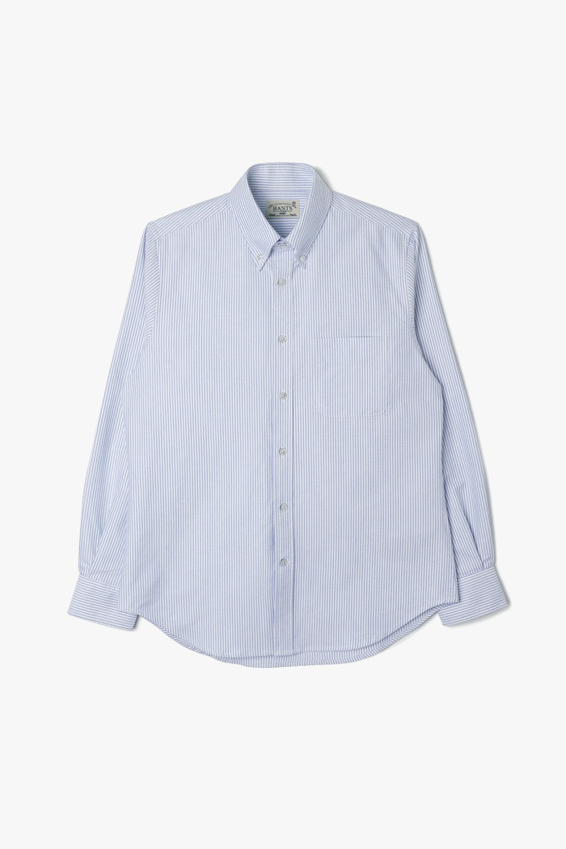 "BANTS VHS Stripe Oxford B.D Shirt ""Skyblue"""