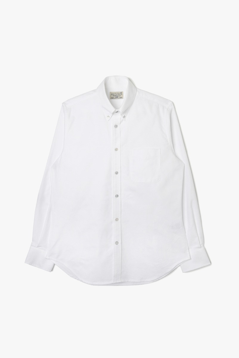 "BANTS VHS Solid Oxford B.D Shirt ""White"""