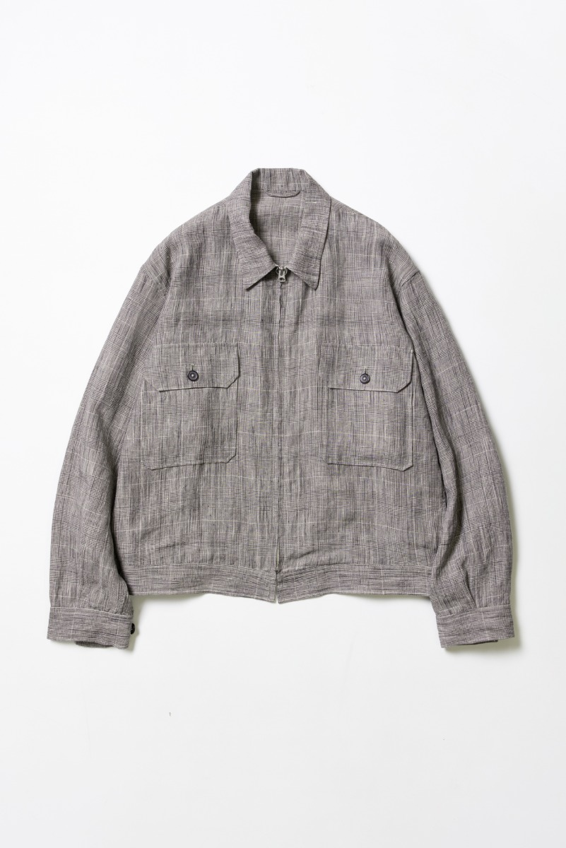 "KAPTAIN SUNSHINE 2P Zip Blouson ""Glen Check"""