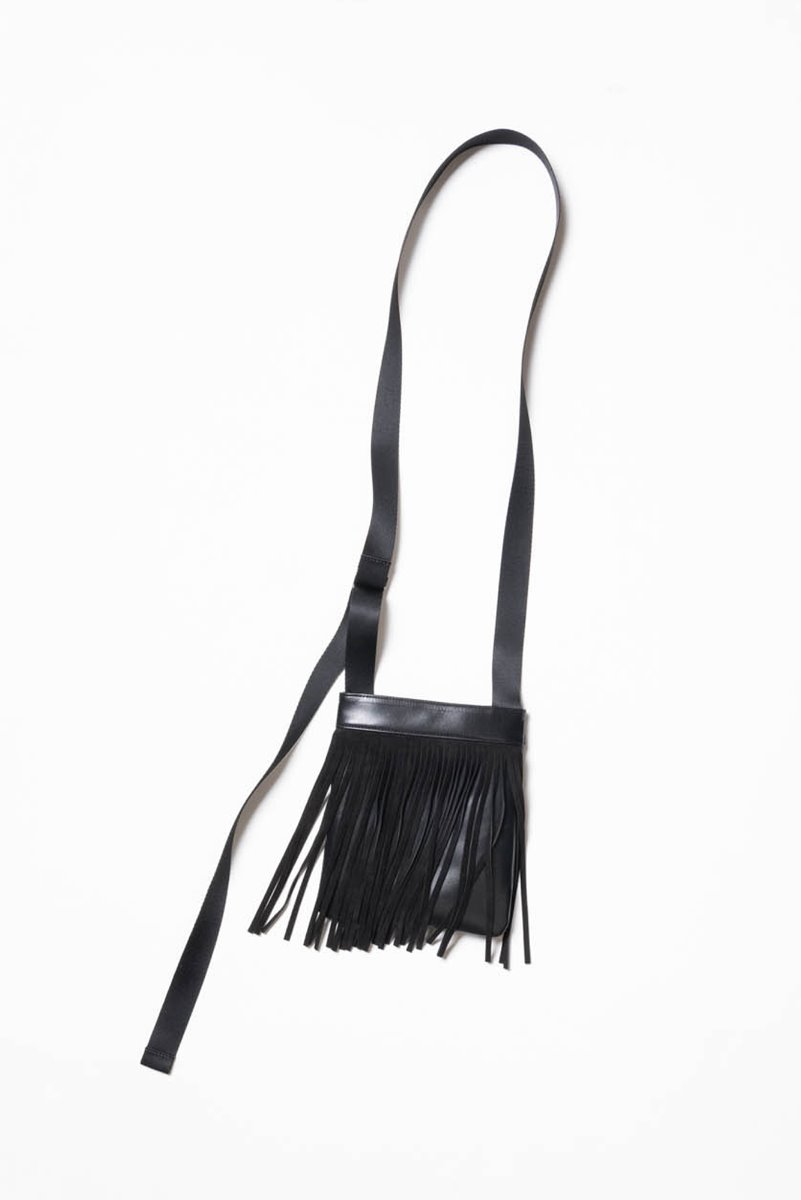 "Nocle Tassel Leather Mini Bag ""Black"""