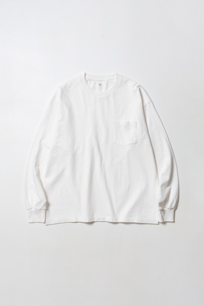 "KAPTAIN SUNSHINE West Coast L/S Tee ""White x SAXE Line"""