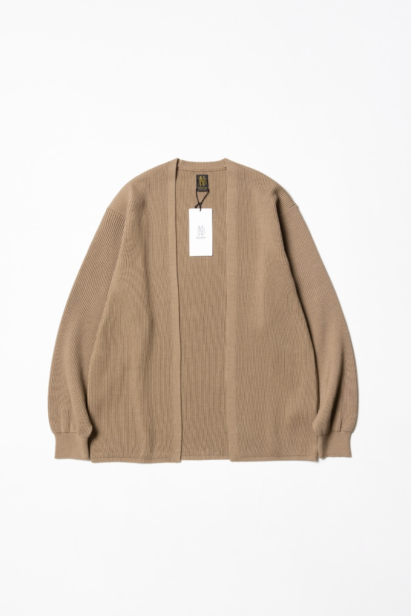 "BATONER High Count Rib Cardigan ""L.Camel"""