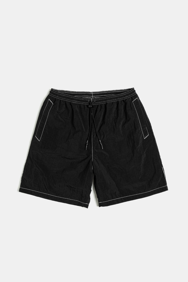 "UNAFFECTED Logo Label Swim Shorts ""Black"""