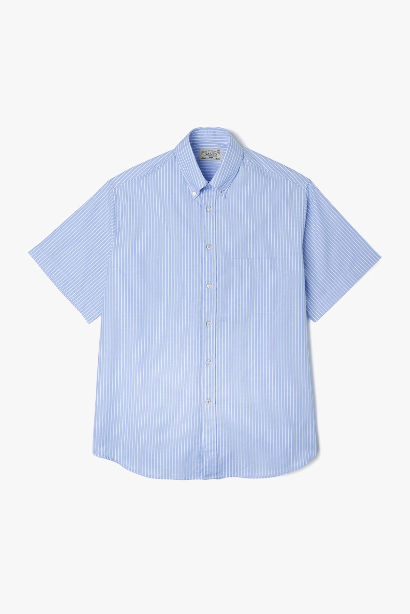 "BANTS VHS Stripe Oxford B.D Shirt Half ""Sax"""