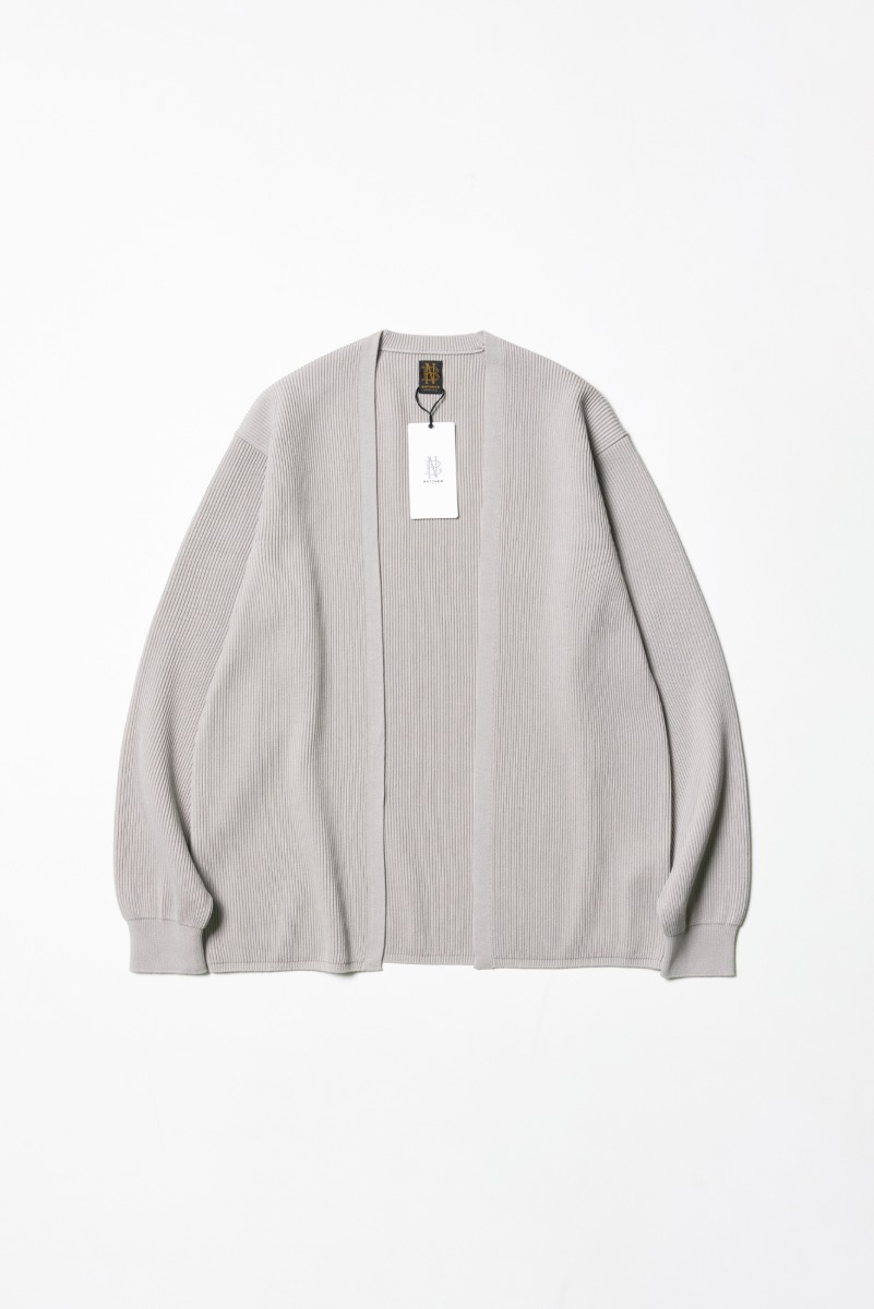 "BATONER High Count Rib Cardigan ""L. Grey"""